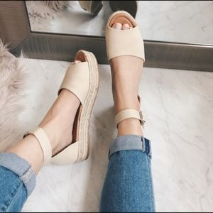 Shoes - Nude Espadrille Sandal